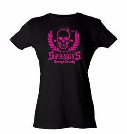 Spanky's OC Skull Pink Ladies Tee