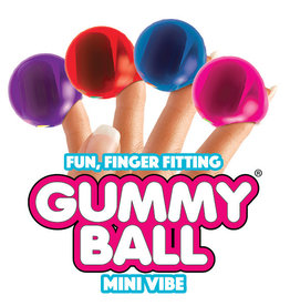 Rock Candy Gummy Ball Finger Mini Vibe - Red