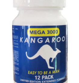 kangaroo Kangaroo Blue 12ct Bottle 3000 Mega Sexual Male Enhancement