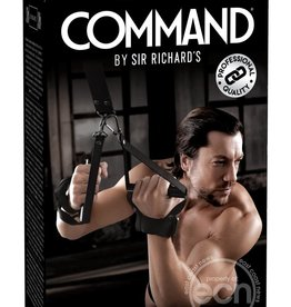 Sir Richard's LLC Sir Richard's Command Suspension Cuff Set Black And Stainless Steel