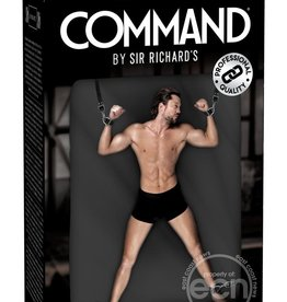 Sir Richard's LLC Sir Richard's Command Under Mattress Bondage Straps Black And Stainless Steel