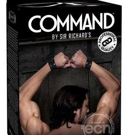 Sir Richard's LLC Sir Richard's Command Bondage Door Cuffs Black Stainless Steel