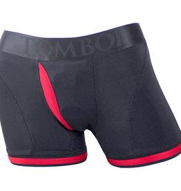 SpareParts SpareParts Tomboii Harness Boxer Briefs - Black & Red - 2X