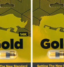Herbal Supplements Rhino 14k Gold Male Enhancement - 1 Count