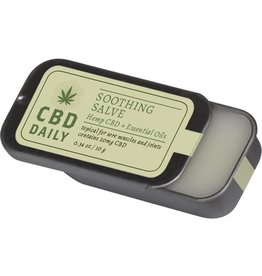 CBD Daily CBD Daily Soothing Salve Hemp CBD And Essential Oils 100% Vegan 0.34 Ounce