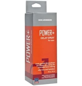 Doc Johnson Power + Delay Spray for Men - 2 Fl. Oz. - Boxed