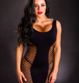 Beverly Hills Naughty Girl Tank Dress - One Size - Black