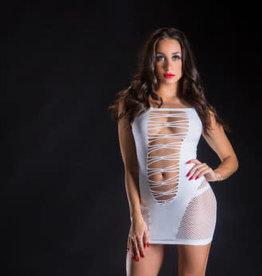 Beverly Hills Naughty Girl Spaghetti Strap String Dress - One Size - White