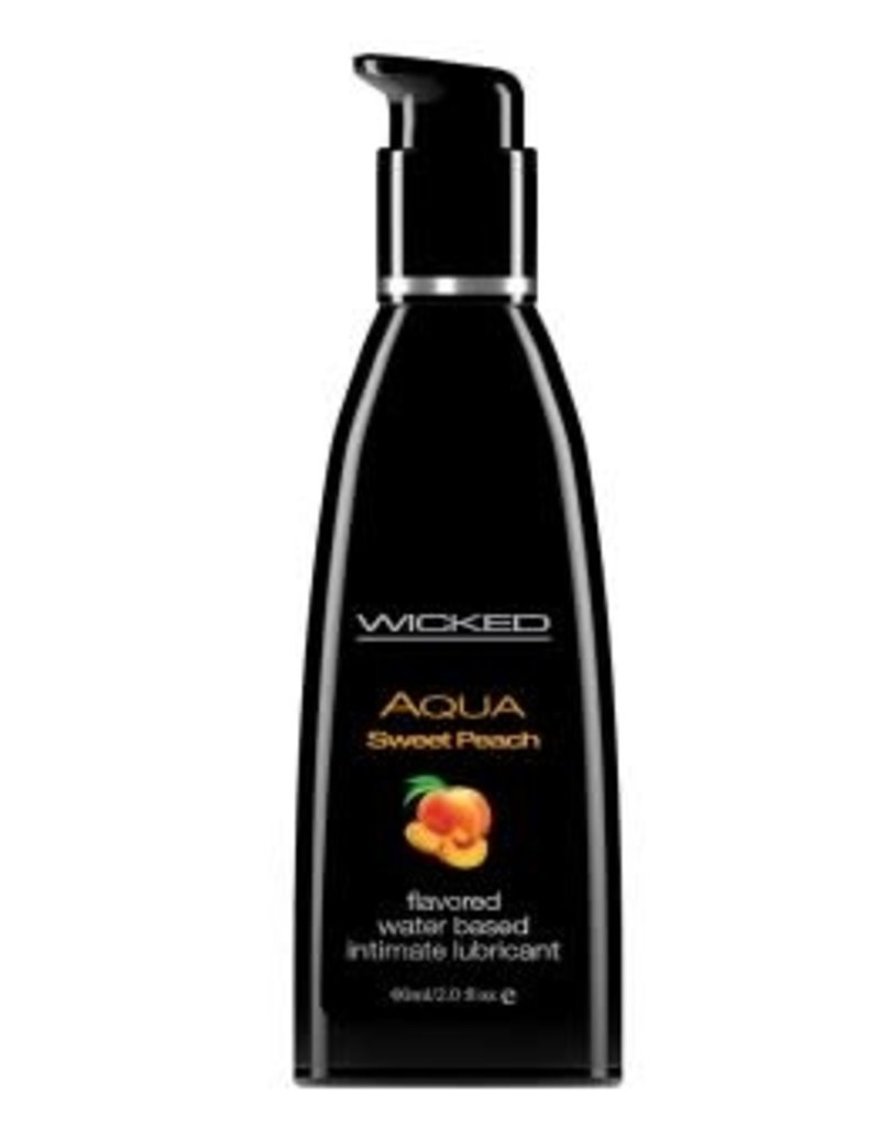 Wicked Sensual Care Aqua Sweet Peach Flavored Water Based Lubricant - 2 Oz. / 60 ml