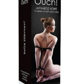 Shots Ouch! Japanese Rope 5 Meters of Soft Nylon Rope - Black
