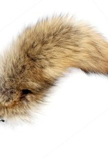 """Touch of Fur 12""""-14"""" Coyote Tail Detachable w/ Medium Sized Jewel Plug"""