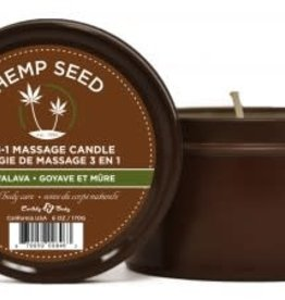 Earthly Body 3 in 1 Guavalava Suntouched Candle With Hemp 6.8 Oz