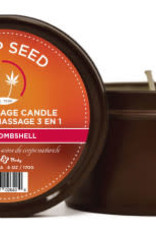 Earthly Body 3 in 1 Massage Candle - Bikini Bombshell 6 Oz Hemp Seed