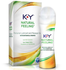 KY K-Y Natural Feeling Water Based Personal Lubricant and Massage Gel
