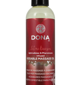 DONA BY JO Dona Aphrodisiac & Pheromone Infused Kissable Massage Oil Strawberry Souffle 3.75 Ounce