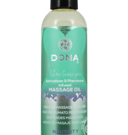 DONA BY JO Dona Aphrodisiac & Pheromone Infused Massage Oil Naughty Sinful Spring 4.25 Ounce