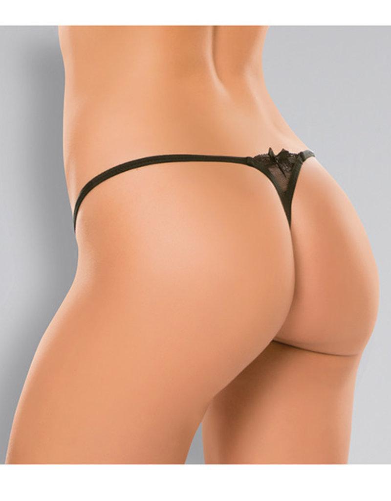Allure Lingerie Allure Pixie Panty - One Size - Black