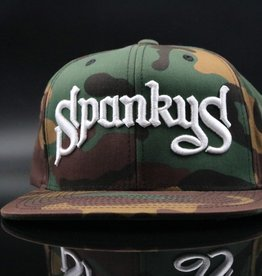 Spanky's Spankys Camouflage Old School Logo Snapback Hat