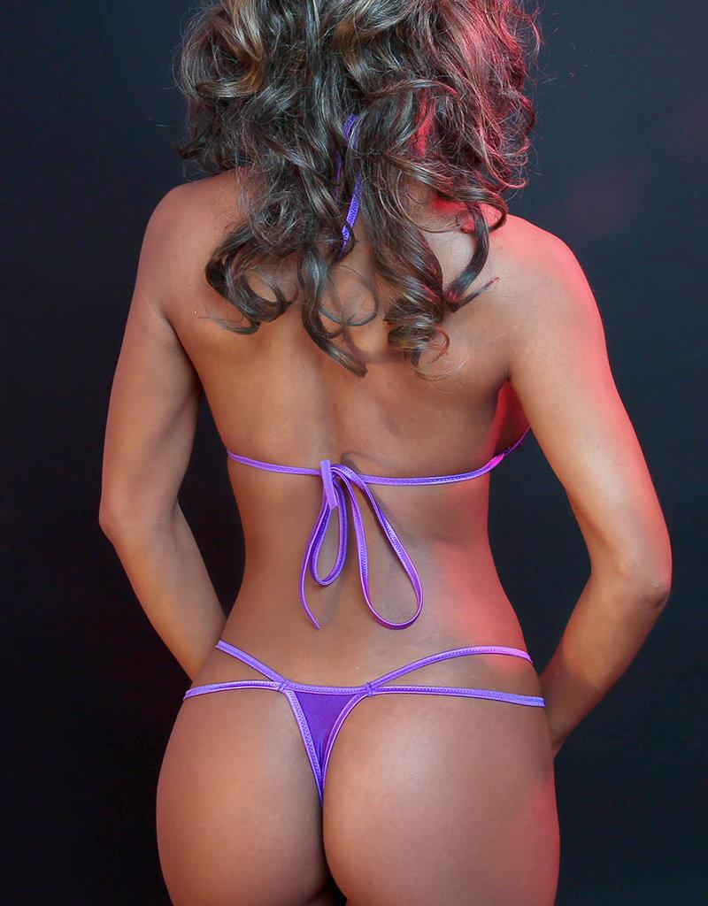 Just to Flirt 2 pc String Pleated Bikini Set - OS
