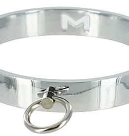 XR Brands Master Series Chrome Slave Collar - Small/ Medium