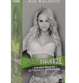 Doc Johnson Main Squeeze Mia Malkova Variable Pressure Ultraskyn Stroker Pussy Masturbator Vanilla 8 Inch