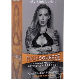 Doc Johnson Main Squeeze Ultraskyn Stroker Viking Barbie Pussy Masturbator Non Vibrating Textured Flesh