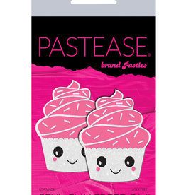 Pastease Pastease Cupcake Glittery Frosting Nipple Pastie - White O/S