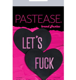 Pastease Pastease Let's Fuck Hearts - Black O/S