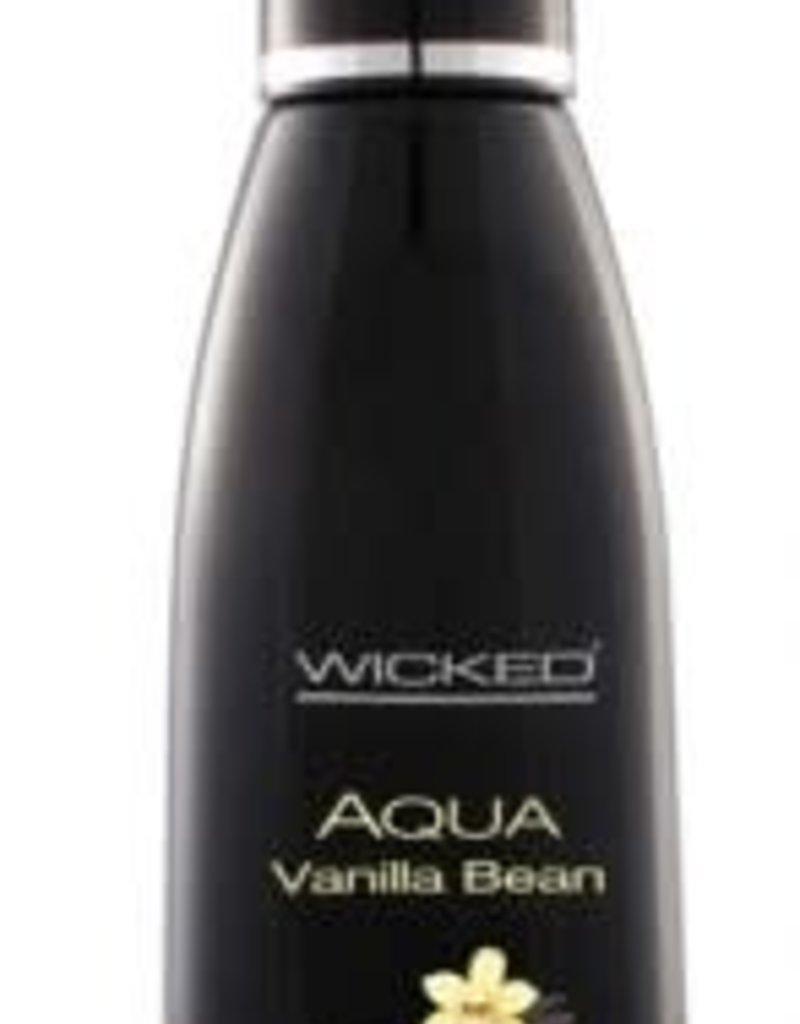 Wicked Sensual Care WICKED Aqua Vanilla Bean Water-Based Lubricant - 4oz