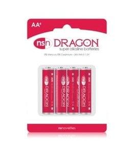 nsnovelties Dragon - Alkaline Batteries - AA - 4 Pack