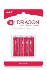 nsnovelties Dragon - Alkaline Batteries - AAA - 4 Pack