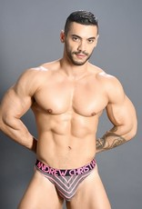 Andrew Christian Physical Stripe Thong w/ Almost Naked
