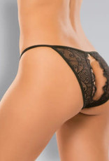 Allure Lingerie Adore Enchanted Belle Panty - One Size - Black
