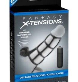 Pipedream Fantasy X-Tensions Deluxe Silicone Power Cage - Black