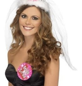 FEVER LINGERIE Bride to Be Tiara With Veil - White