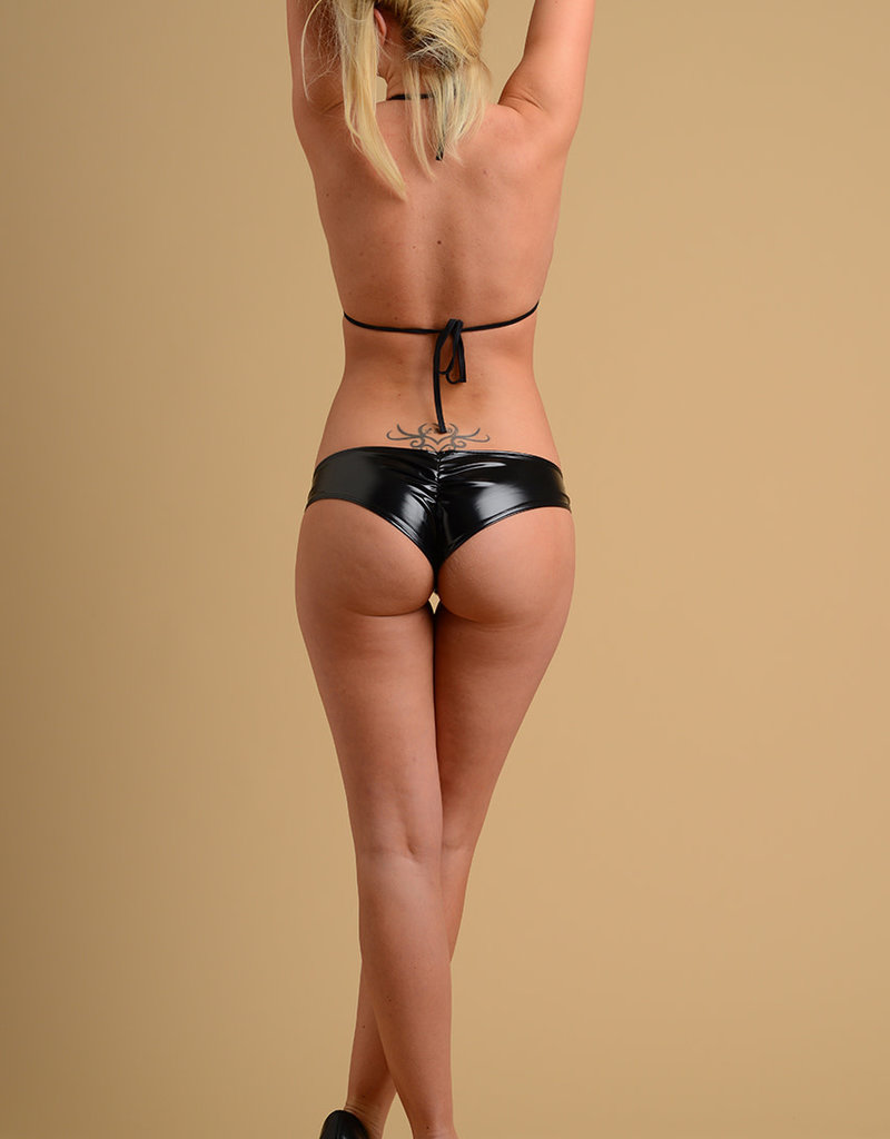 Just to Flirt 2pc Vinyl Bikini with Stud Detail - Assorted Colors - OS