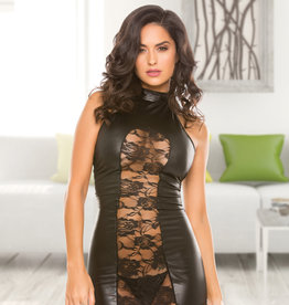 Allure Lingerie Wetlook Halter Cut Dress