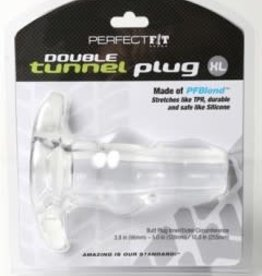Perfect Fit Double Tunnel Plug XL - Clear