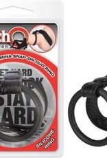 NassToys The Macho Collection Supreme Stamina Snap-on Duo Ring - Black