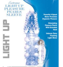 HOTT PRODUCTS Light Up Extreme Pleasure Pearls Sleeve - Blue