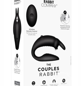 The Rabbit Company The Rabbit Company The Couples Rabbit Silicone Black