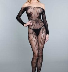 Be Wicked Silent Movies Bodystocking - Queen Size