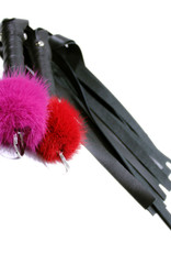 "Touch of Fur 20"" Small Mink Puff-Top and Leather Flogger"