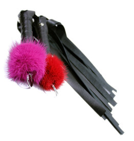 """Touch of Fur 20"""" Small Mink Puff-Top and Leather Flogger"""