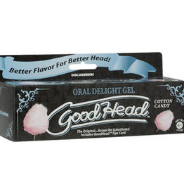 Doc Johnson Goodhead - Oral Delight Gel - 4 Oz Tube - Cotton Candy