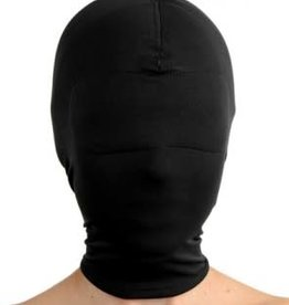 XR Brands Master Series Blackout Breatheable Hood With Padded Blindfold - Black