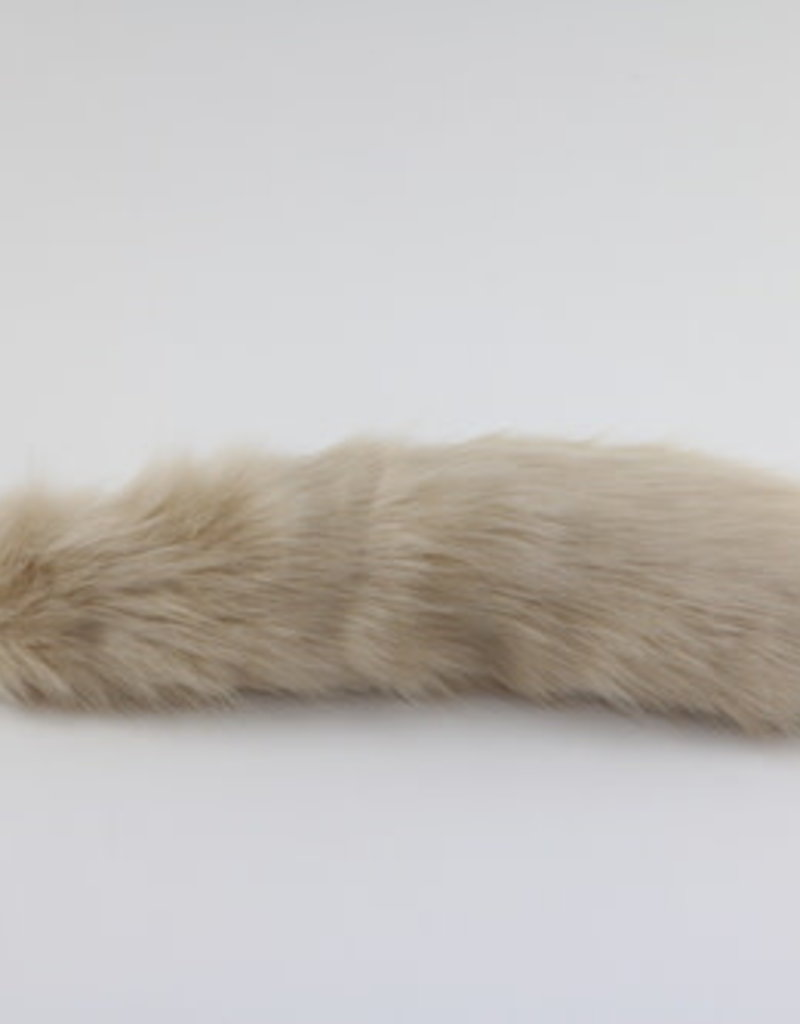 """Touch of Fur 17-18"""" Tan Faux Fur Tail on a non detachable Stainless Steel Plug - large"""