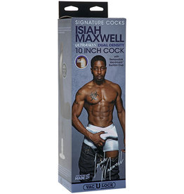 Doc Johnson Signature Cocks - Isiah Maxwell - 10 Inch Ultraskyn Cock With Removable Vac-U-Lock Suction Cup