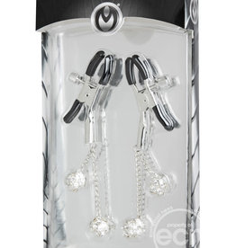 Master Series Master Series Ornament Adjustable Jewel Nipple Clamps Clear