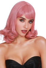 Dreamgirl Shoulder Length Wig With Bangs and Bottom Curl